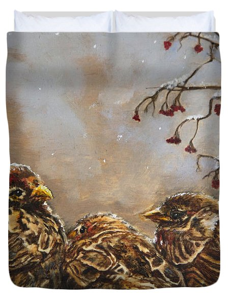 Keeping Company Duvet Cover by Enzie Shahmiri