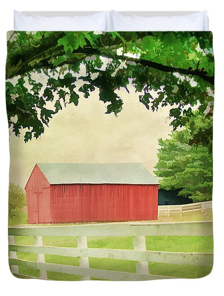 Kentucky Country Side Duvet Cover by Darren Fisher