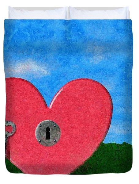 Key To My Heart Duvet Cover by Jeffrey Kolker