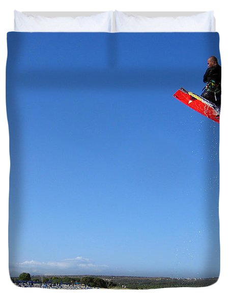 Kiesurfing Duvet Cover by Stelios Kleanthous