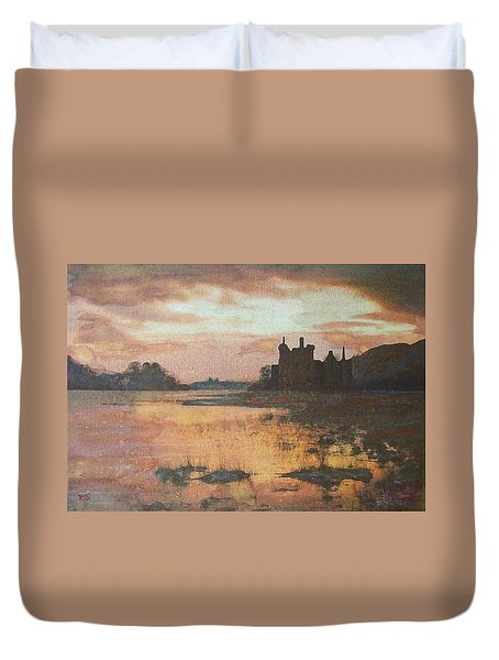 Kilchurn Castle Scotland Duvet Cover by Richard James Digance