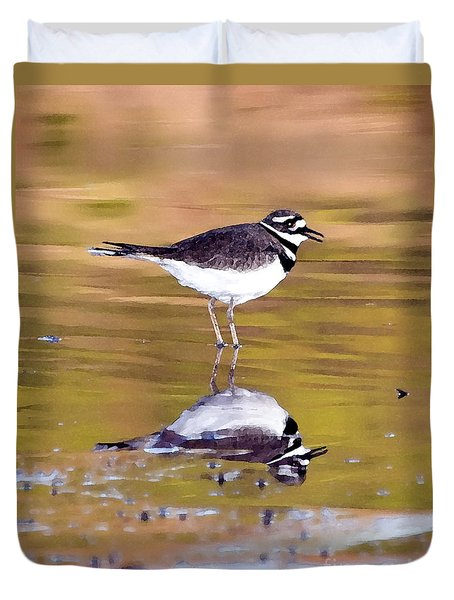 Killdeer Reflection Duvet Cover