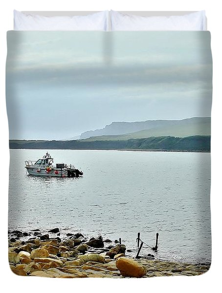 Duvet Cover featuring the photograph Kimmeridge 1 by Katy Mei