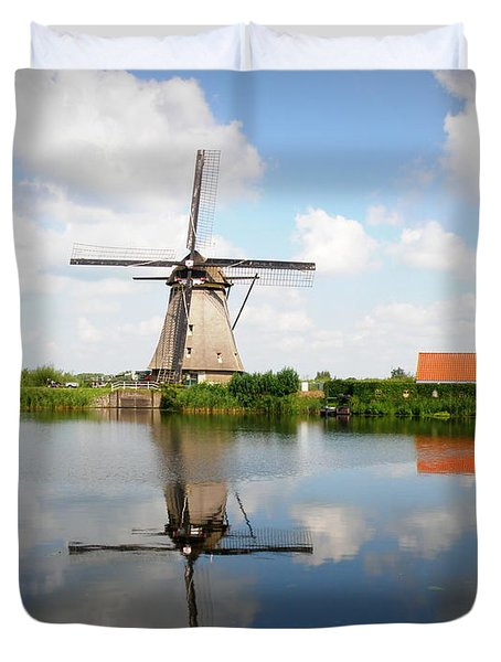 Kinderdijk Windmill Duvet Cover by Lainie Wrightson