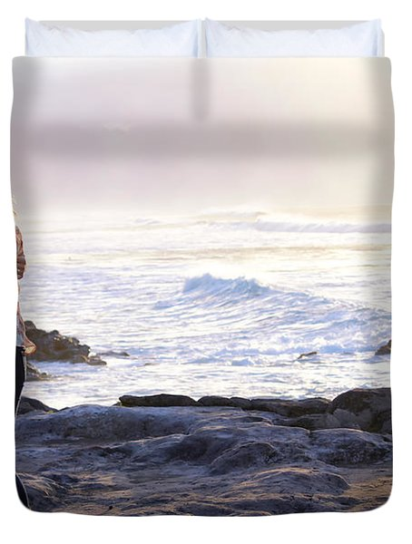 Kissed By The Ocean Duvet Cover