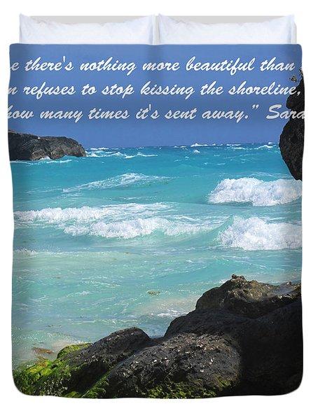 Kissing The Shore Duvet Cover by Ian  MacDonald
