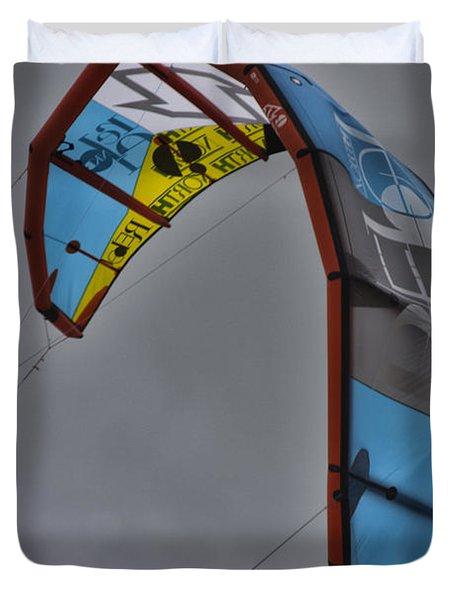 Kite Surfing Duvet Cover by Douglas Barnard