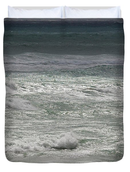 Kiteboarding Duvet Cover by Nick  Shirghio