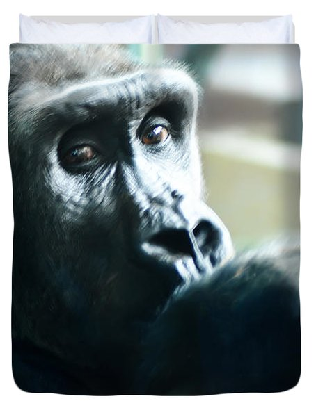 Kivu The Gorilla Duvet Cover by Bill Cannon