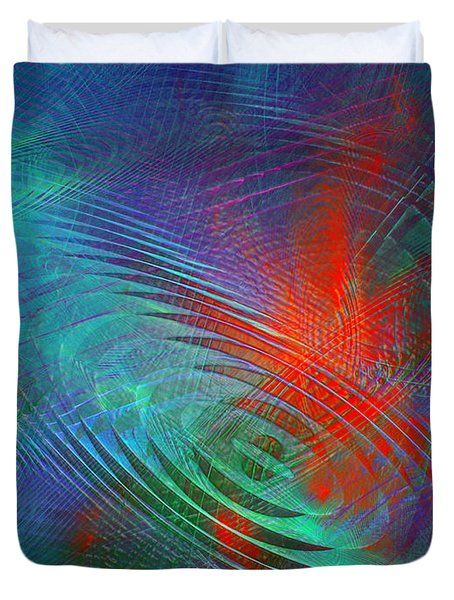 Koi pond abstract digital art by andee design for Koi pool cover