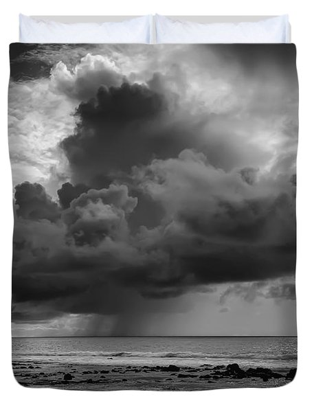 Kona Coast Squall - Big Island Hawaii Duvet Cover by Daniel Hagerman