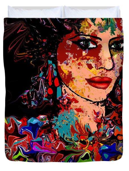 La Bella Duvet Cover by Natalie Holland