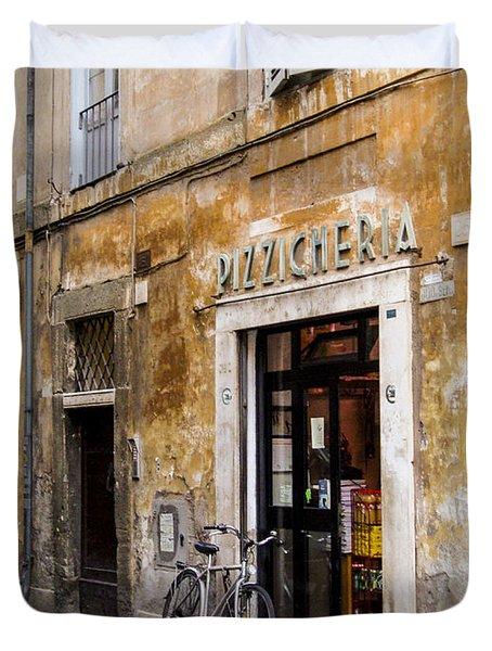 Duvet Cover featuring the photograph La Bicicletta by Marta Cavazos-Hernandez