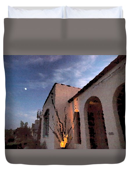 Duvet Cover featuring the photograph La Casa by Joe Schofield