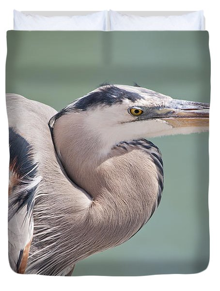 Duvet Cover featuring the photograph La Garza by Steven Sparks