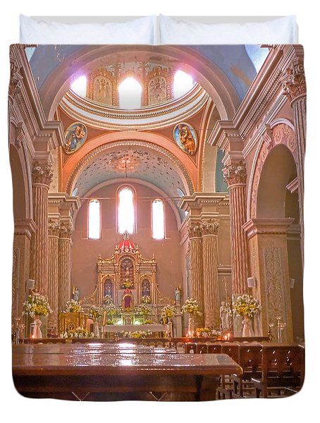 La Iglesia Matriz De Sangolqui Ecuador Duvet Cover