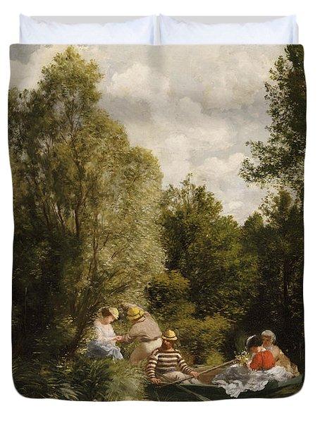 La Mare Aux Fees Duvet Cover by Pierre Auguste Renoir