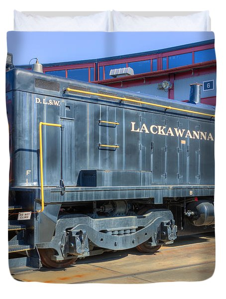 Lackawanna Locomotive 426 Duvet Cover by Clarence Holmes