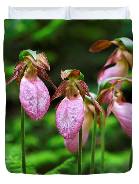 Lady Slippers Everywhere Duvet Cover