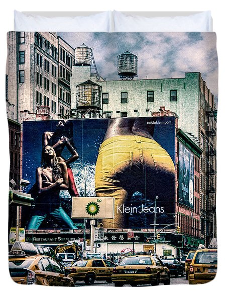 Lafayette And Houston Nyc Duvet Cover by Chris Lord