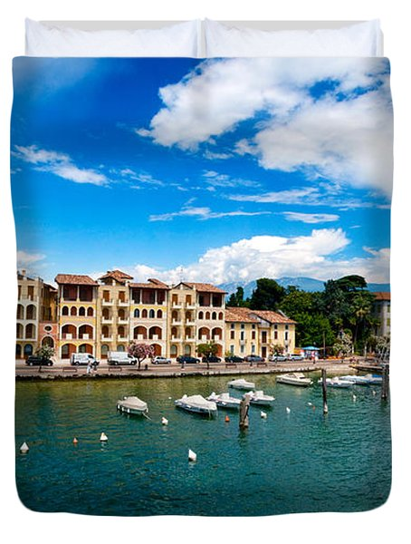 Lago Di Garda In Italy In Early Spring  Duvet Cover by Ulrich Schade