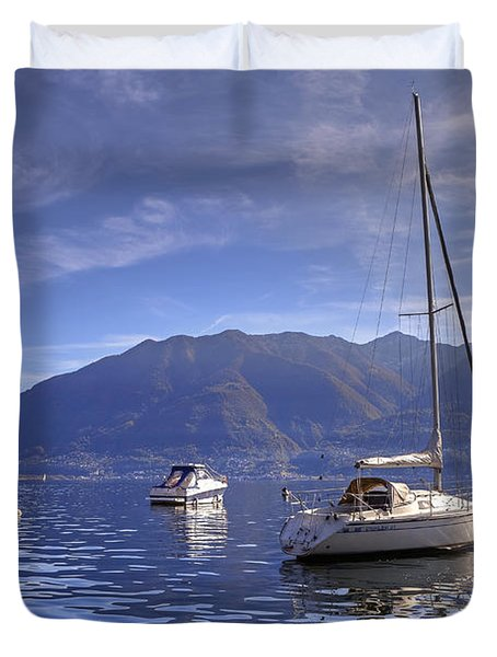 Lago Maggiore Duvet Cover by Joana Kruse