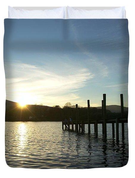 Lake District Sunset Duvet Cover