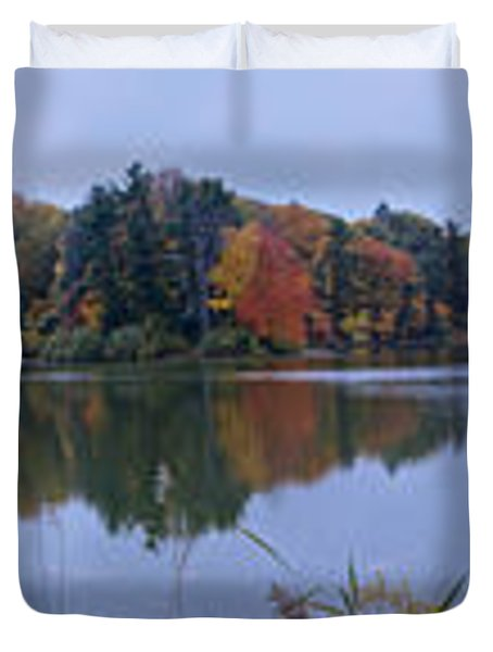 Duvet Cover featuring the photograph Lake Eastman by William Norton