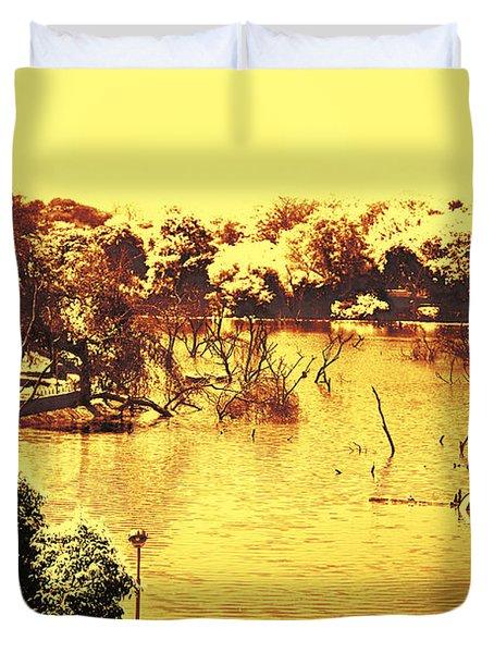 Lake In India Duvet Cover