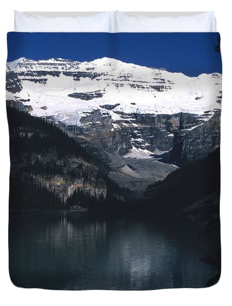 Duvet Cover featuring the photograph Lake Louise II by Sharon Elliott