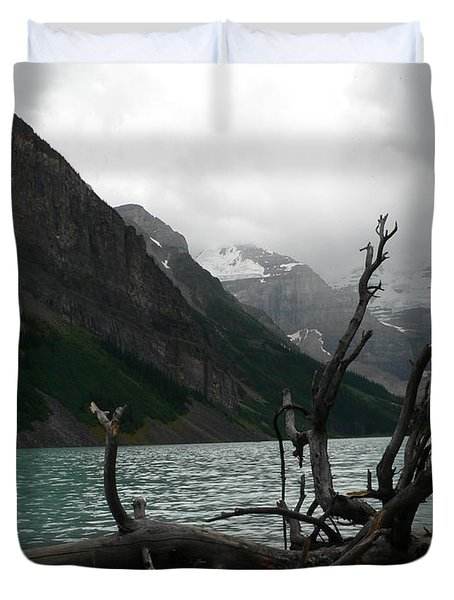 Duvet Cover featuring the photograph Lake Louise by Laurel Best