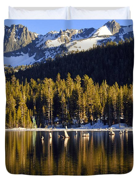 Duvet Cover featuring the photograph Lake Mary Reflections by Lynn Bauer