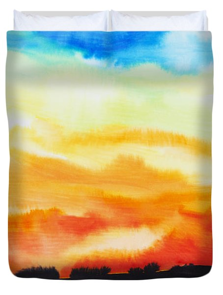 Lake Of Fire Duvet Cover by Tara Thelen