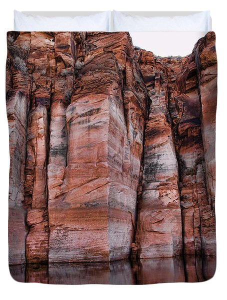 Lake Powell Water Canyon Duvet Cover by Jon Berghoff