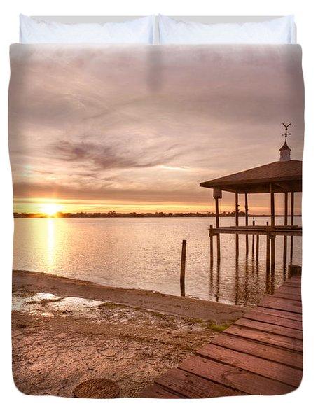 Lakeside Duvet Cover by Debra and Dave Vanderlaan