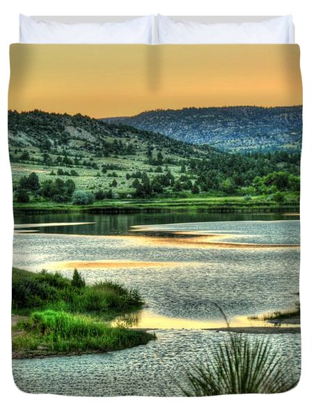 Duvet Cover featuring the photograph Lakeside View by Anthony Wilkening