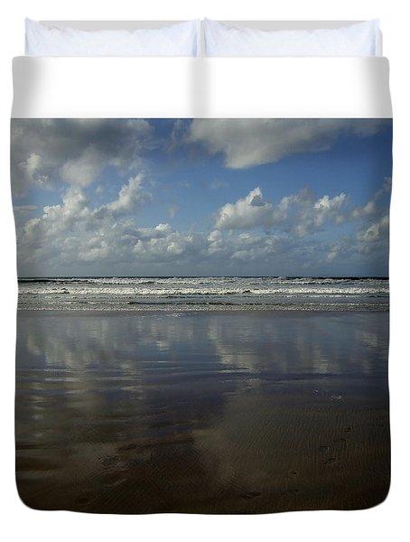Land Sea Sky Duvet Cover