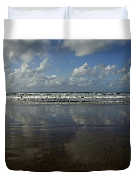 Land Sea Sky Duvet Cover