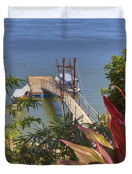 Landing In Boca Chica  Duvet Cover by Heiko Koehrer-Wagner