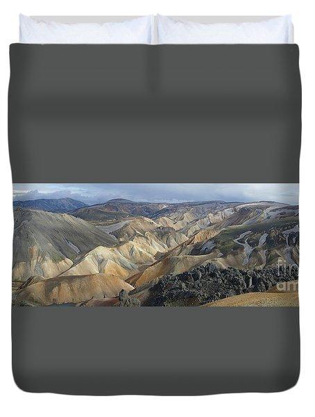 Landmannalaugar Panorama 1 Duvet Cover
