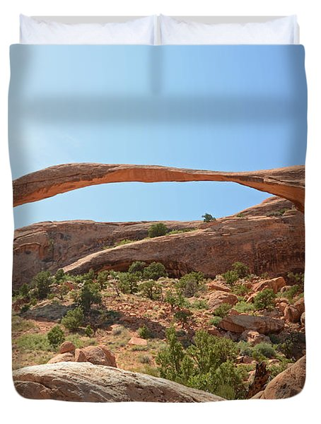 Landscape Arch Duvet Cover by Cassie Marie Photography