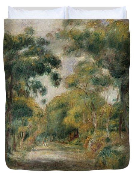 Landscape At Noon Duvet Cover by  Pierre Auguste Renoir