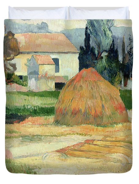 Landscape Near Arles Duvet Cover by Paul Gauguin