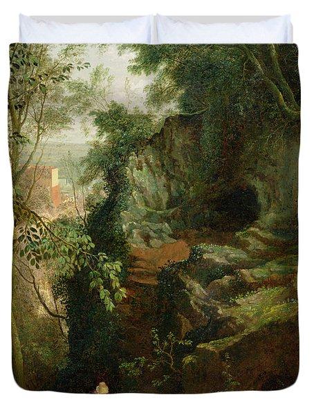 Landscape Near Clifton Duvet Cover by Francis Danby