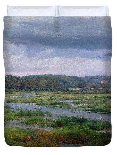 Landscape Near Ribe Denmark Duvet Cover