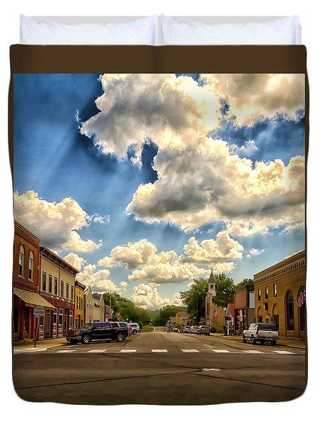 Lanesboro City Minnesota Duvet Cover
