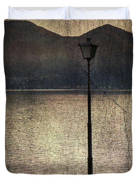 Lantern At The Lake Duvet Cover by Joana Kruse