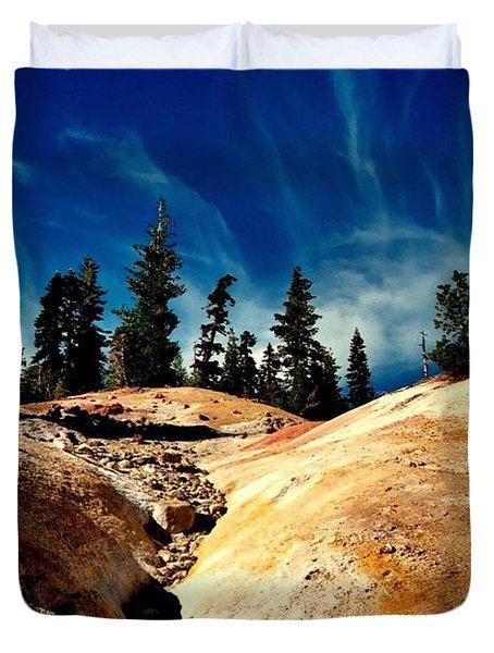 Lassen Volcanic National Park Duvet Cover by Peter Mooyman
