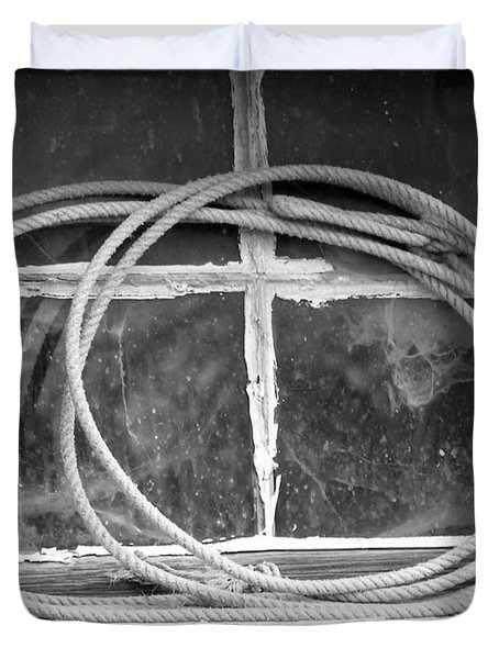 Duvet Cover featuring the photograph Lasso In The Window  by Deniece Platt