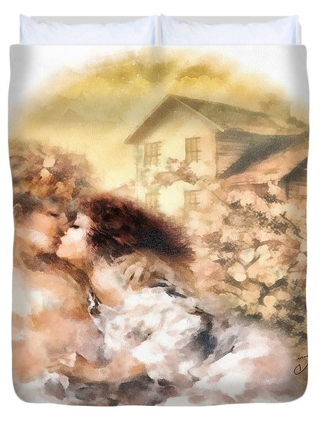 Last Day Of Summer Duvet Cover by Mo T